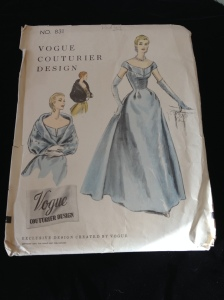 Vogue Couturier sewing pattern from the 1950s